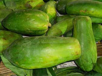 Green papayas for digestion