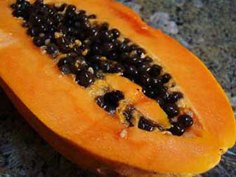 Papaya for parasitic infection