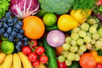 Vine ripened fruit and vegetables