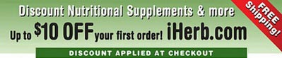 iHerb Superfoods & Supplements – $10 off first order / $4 International delivery
